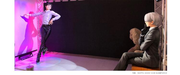 勝生勇利、ヴィクトル・ニキフォロフの等身大フィギュアの展示イメージ。