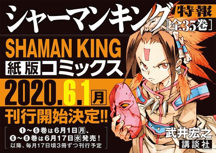 「SHAMAN KING 完結版」紙版の告知画像