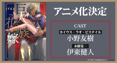 「巨人族の花嫁」アニメ化決定の告知ビジュアル。