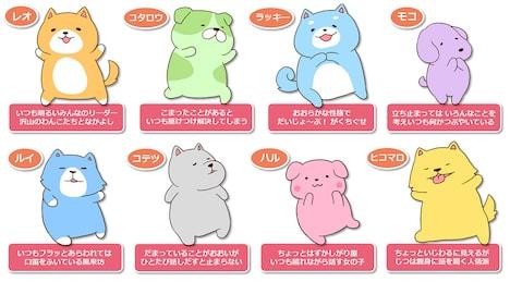 アニメ「みっちりわんこ!あにめ~しょん」のキャラクター一覧。
