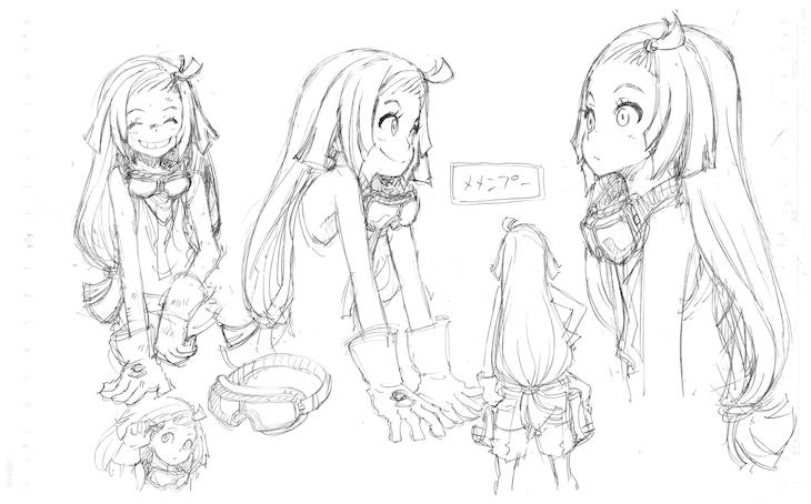 メメンプーのキャラクター原案。(c)岩原裕二/Project ANIMA