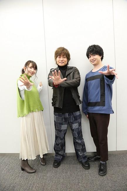 左からクリーオウ役の大久保瑠美、オーフェン役の森久保祥太郎、マジク役の小林裕介。