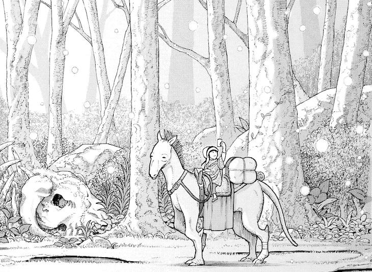 「レディ・ロウと7日の森」の1コマ。(c)一色まこと/講談社