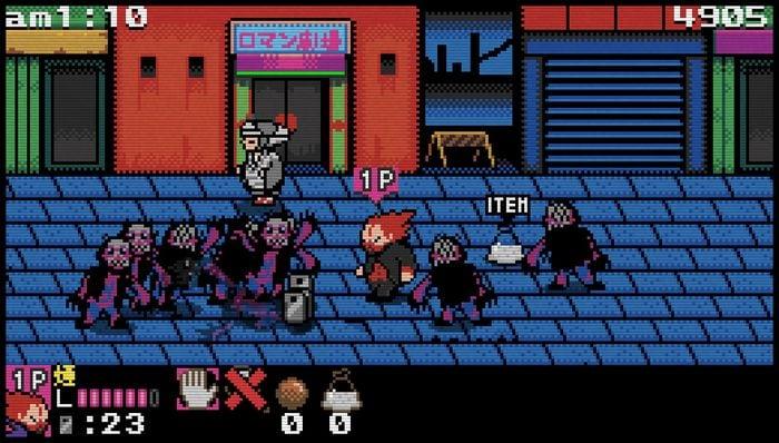 「ドロヘドロ 8bitゲーム ~リビングデッドデイ・サバイバー~」のプレイ画面。