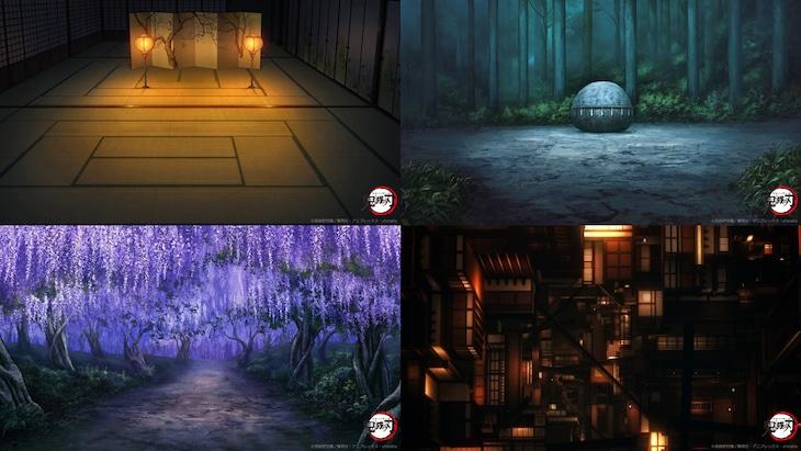 アニメ「鬼滅の刃」のビデオ通話用背景素材。