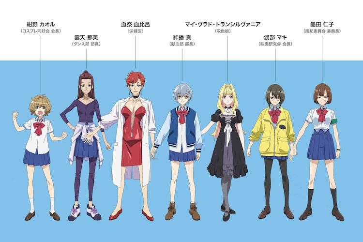 各キャラクターのビジュアル。