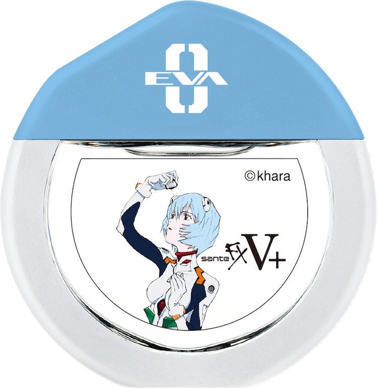 「サンテFX Vプラス『綾波レイモデル』」のボトル。