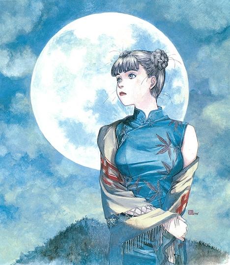 「チャイナさんの憂鬱」の複製原画。
