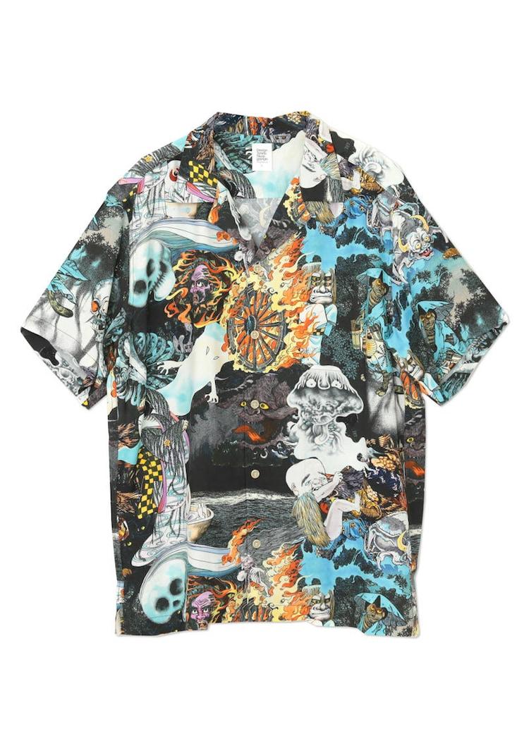 「ゲゲゲの鬼太郎」をモチーフにしたシャツ。