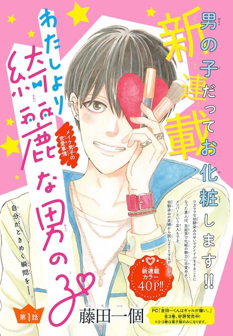 藤田一個「わたしより綺麗な男の子」の扉ページ。