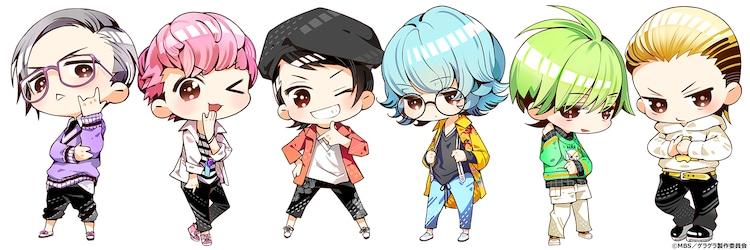 ショートアニメ「GETUP! GETLIVE! #げらげら」キャラクタービジュアル