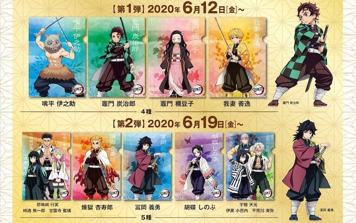 「鬼滅の刃」×くら寿司コラボキャンペーンで配布されるクリアファイル。