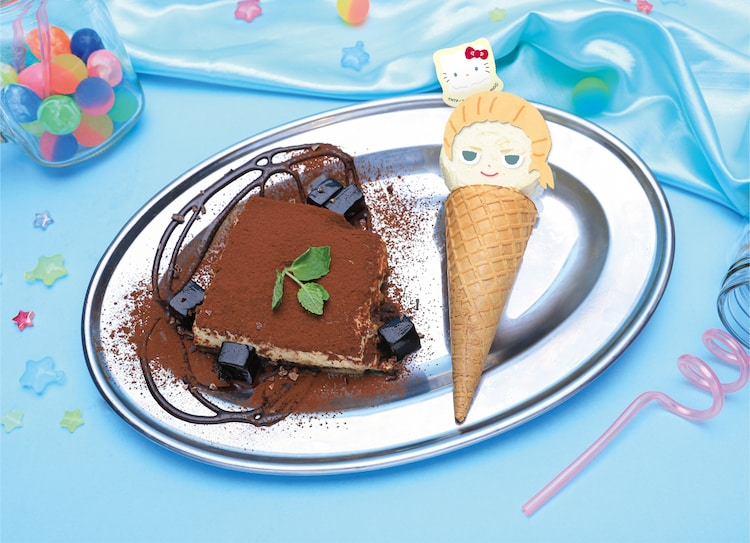 「ティラミス&アイスプレート」のイメージ。好きなキャラクターのアイスを選ぶことができる。