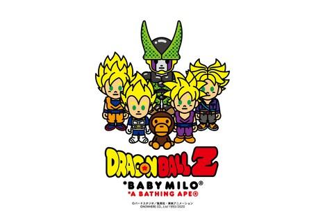アニメ「ドラゴンボールZ」とA BATHING APEのコラボビジュアル。