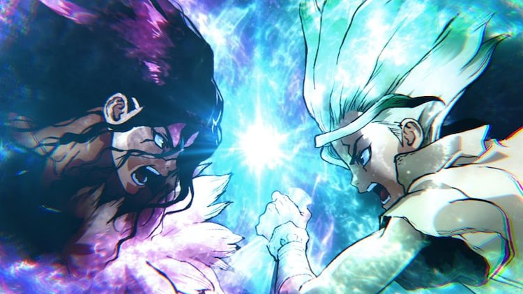 """From the second episode of the teaser PV of the second season of the TV anime """"Dr. STONE""""."""