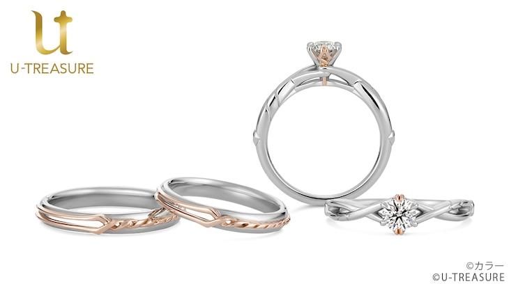 ロンギヌスの槍をモチーフにした婚約指輪・結婚指輪。