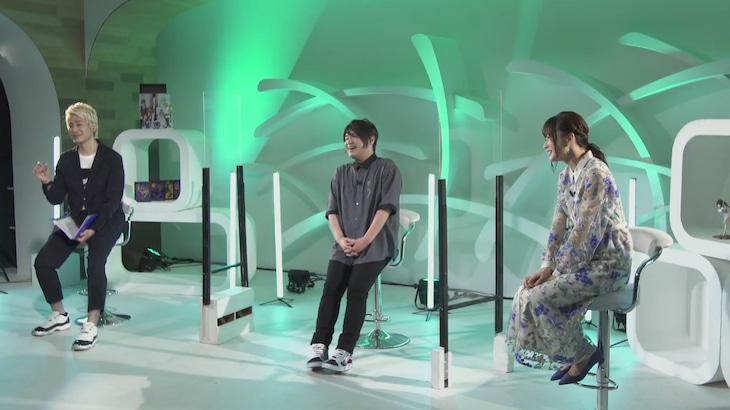 「Stay Connected with Anime」より、「ダンジョンに出会いを求めるのは間違っているだろうかIII」コーナーの模様。