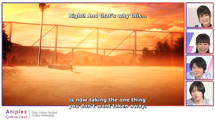 劇場版「『Fate/stay night [Heaven's Feel]』II.lost butterfly」のシーンを観る一同。