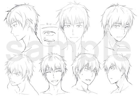 吉田のキャラクターラフデザイン。