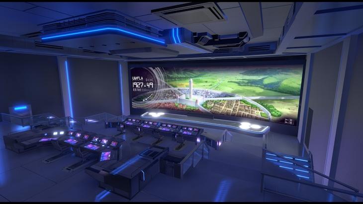 「SAO アリシゼーション WoU -Virtual Meeting-」の会場となるVR空間のイメージ。