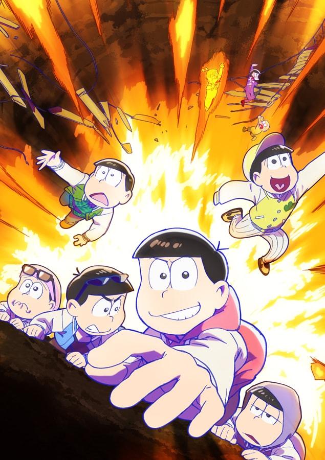 TVアニメ「おそ松さん」第3期のティザービジュアル。