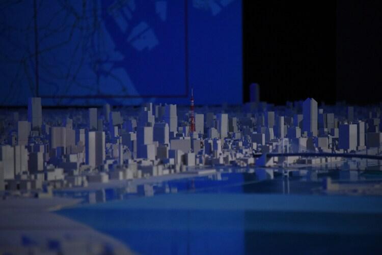 東京都市部の模型。