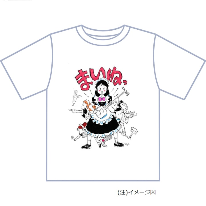 安彦良和の描き下ろしイラストを使用したTシャツ。