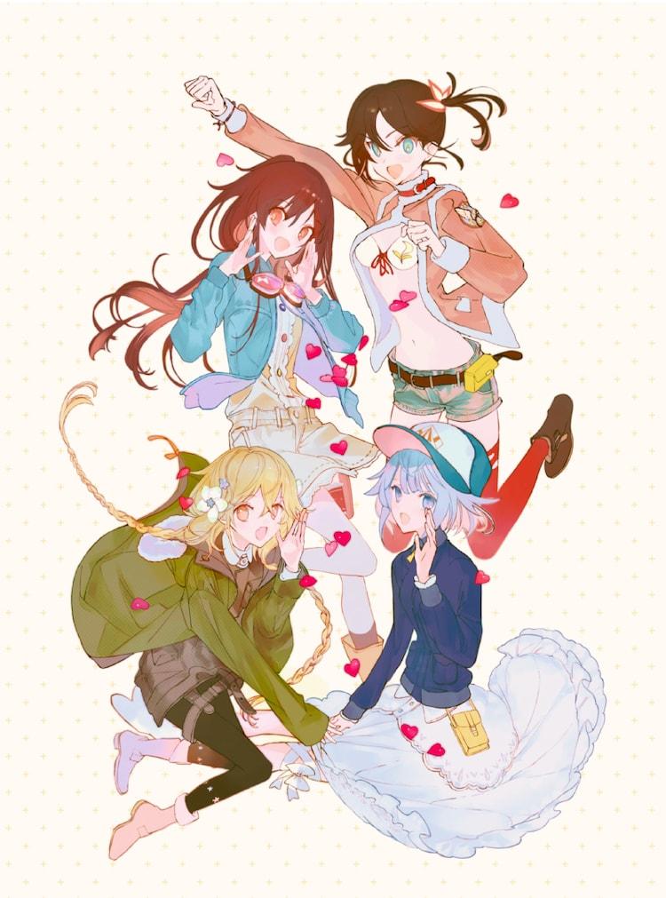 「ローリング☆ガールズ」Blu-ray BOXに使われる描き下ろしイラスト。