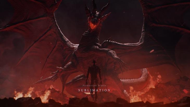 Netflixオリジナルアニメ「ドラゴンズドグマ」オープニング映像より。