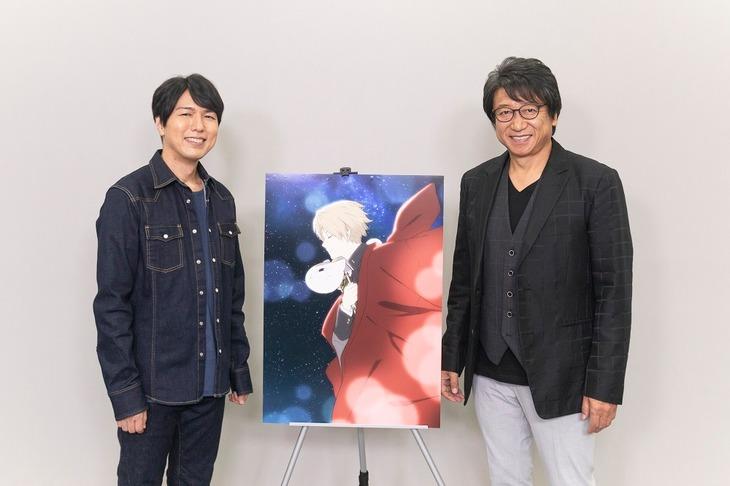Web特番「夏目友人帳 ~再会のたより~」に出演した神谷浩史(左)と井上和彦(右)。