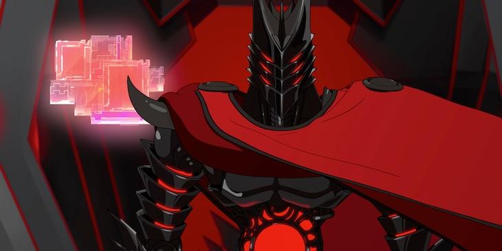 Netflixオリジナルアニメシリーズ「エデン」より、ゼロ(CV:山寺宏一)。