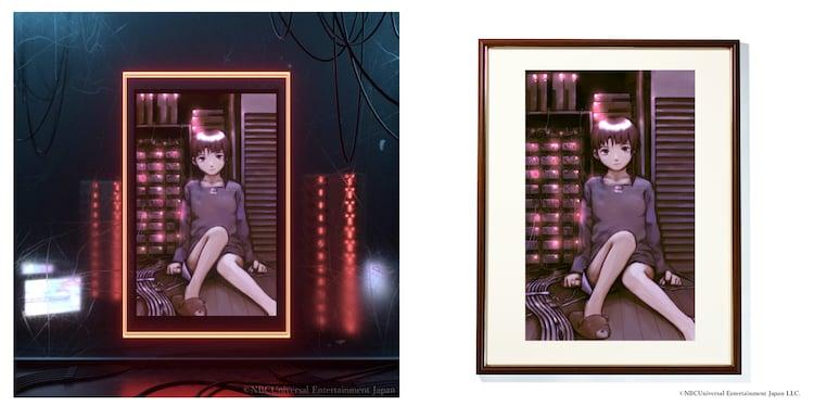 保有証明書付きデジタル額装絵。右はリアル版。