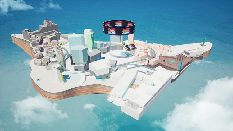バーチャル会場「ジャンフェス島」のイメージ。