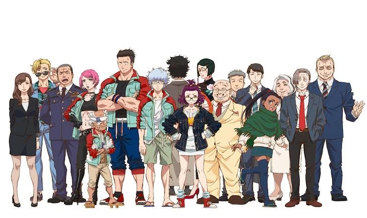 TVアニメ「ゴジラ S.P <シンギュラポイント>」のキャラクタービジュアル。