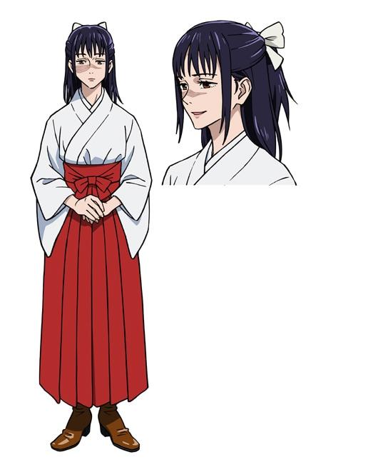 庵歌姫(CV:日笠陽子) 京都府立呪術高等専門学校の教師。衝突しがちな京都校の学生をなだめる大人の対応とは裏腹に、後輩である五条にはきつく当たるが、振り回されがち。
