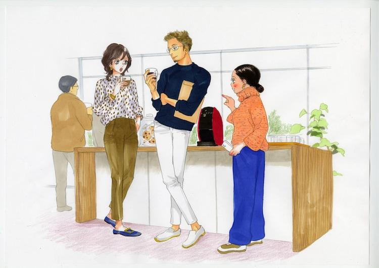 安野モヨコの描き下ろしイラスト。