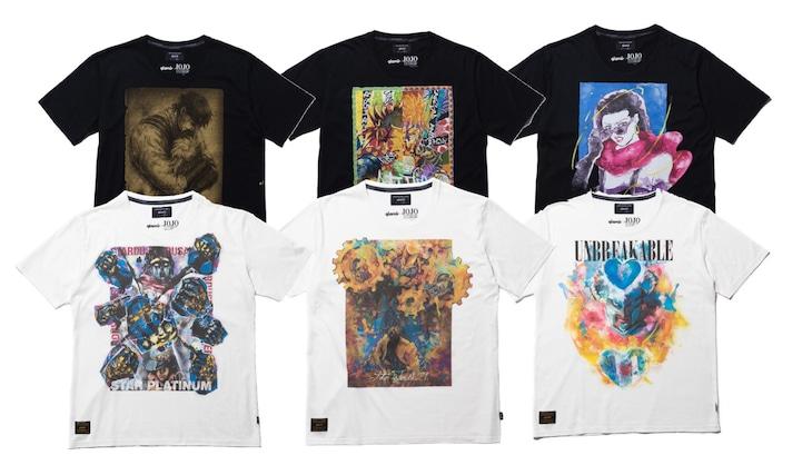 「ジョジョの奇妙な冒」とglambのコラボTシャツ。