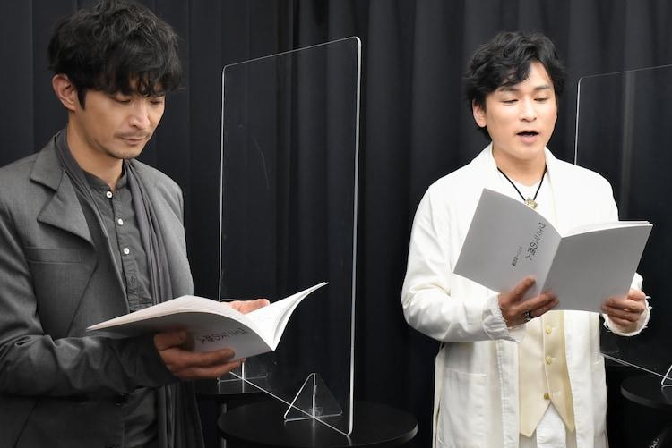 左から津田健次郎、森田成一
