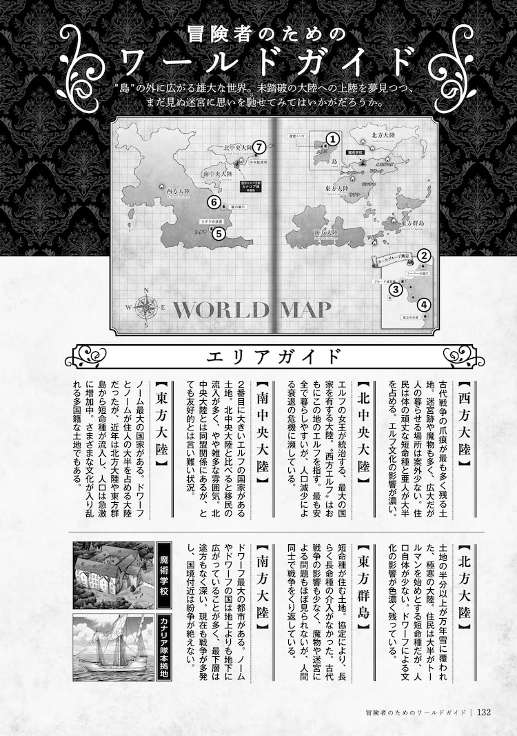 「ダンジョン飯 ワールドガイド 冒険者バイブル」より。