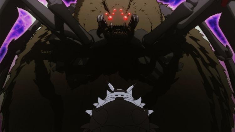 TVアニメ「蜘蛛ですが、なにか?」第13話の場面カット。(c)馬場翁 ・輝竜司/KADOKAWA/蜘蛛ですが、なにか?製作委員会