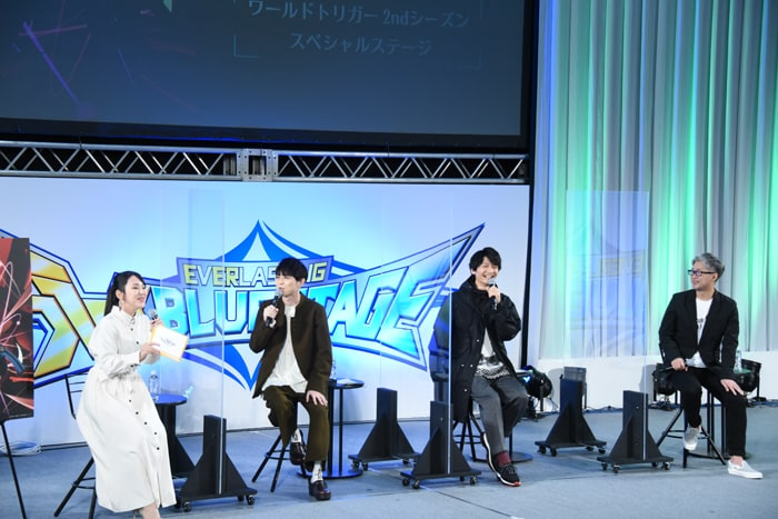 TVアニメ「ワールドトリガー」ステージイベントの様子。