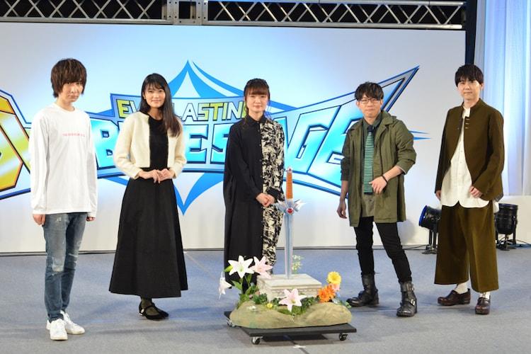 「AnimeJapan 2021」内で行われたアニメ「ドラゴンクエスト ダイの大冒険」ステージイベントより。左から前野智昭、早見沙織、種崎敦美、豊永利行、梶裕貴。