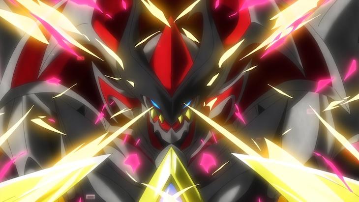 アニメ「ベイブレードバースト ダイナマイトバトル」第1話の場面カット。