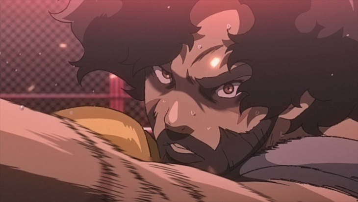 TVアニメ「NOMAD メガロボクス2」の場面カット。
