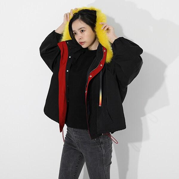 煉獄杏寿郎のアウターの着用イメージ。