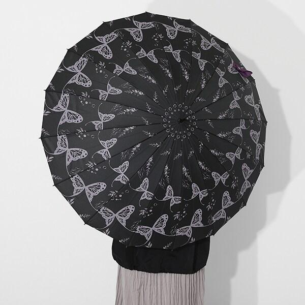 胡蝶しのぶモデルの傘の使用イメージ。