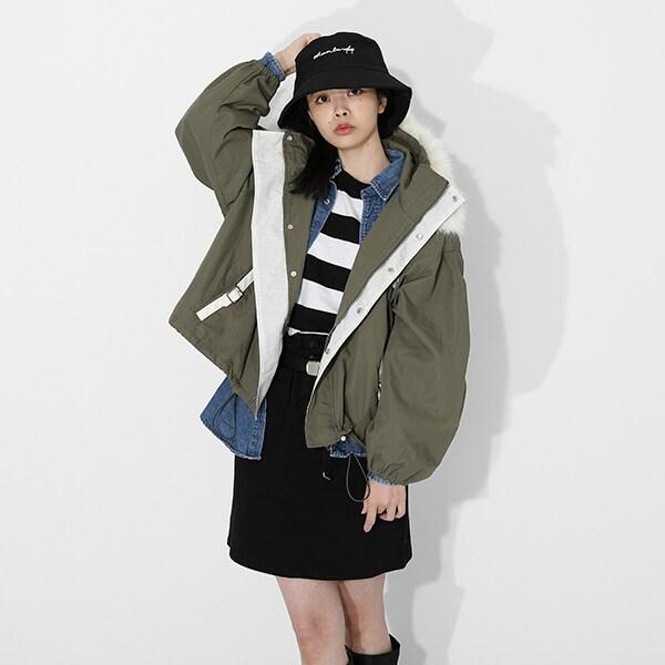 不死川実弥モデルのアウターの着用イメージ。