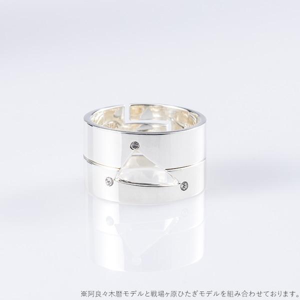 阿良々木暦モデルのリングセットと、戦場ヶ原ひたぎモデルのリングセット。