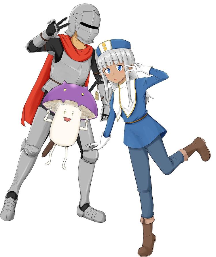 丹念に発酵によるTVアニメ製作決定記念イラスト。