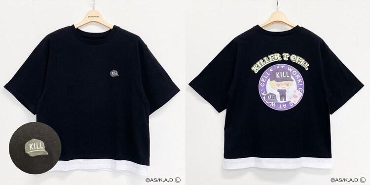 「はたらく細胞 キャラクターTシャツ(ブラック)」